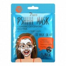 7 DAYS Putojanti valomoji veido kaukė su anglimi lakštinė, 25 g
