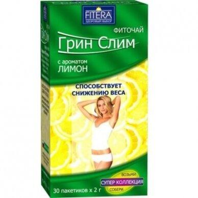 Green Slim arbata Citrinų skonio 30 pakelių