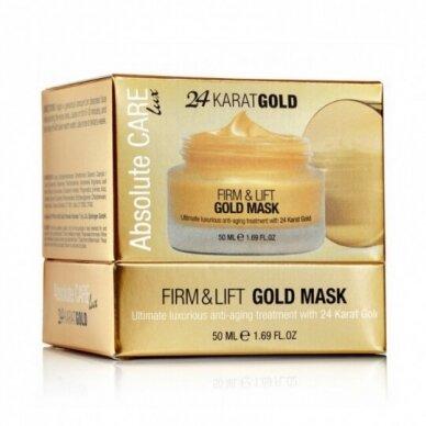 Absolute Care 24 Karat GOLD stangrinanti kaukė veidui su aukso dulkėmis, 50 ml