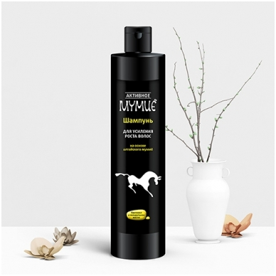 """""""Aktyvnoe Mumio"""" Šampūnas skatinantis plaukų augimą  330ml"""
