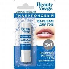 """Beauty Visage hialuroninis lūpų balzamas, drėkinamasis """"5 viename"""", 3,6 g"""
