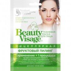 Beauty Visage micelinė šveičiamoji rūgštinė tekstilinė veido kaukė, 25 ml