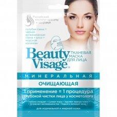Beauty Visage mineralinė valomoji tekstilinė veido kaukė, 25 ml