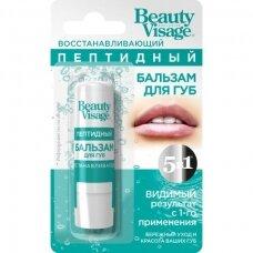 """Beauty Visage peptidinis lūpų balzamas, atstatomasis """"5 viename"""", 3,6 g"""