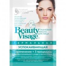 Beauty Visage terminė raminanti tekstilinė veido kaukė, 25 ml