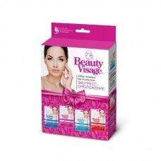 Beauty Visage veido kaukių rinkinys, 4x25 ml