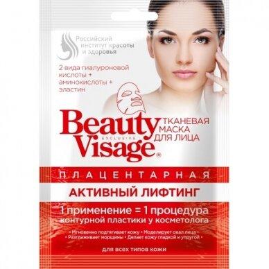 Beauty Visage placentinė stangrinamoji tekstilinė veido kaukė, 25 ml