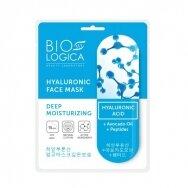 "BIOLOGICA tekstilinė kaukė veidui su hialurono rūgštimi ""Deep moisturizing"", 22 ml"