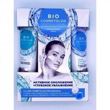 """Bio Cosmetolog professional kosmetinis rinkinys """"Aktyvus jauninimas + intensyvus drėkinimas"""" 2x45ml"""