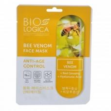 """BIOLOGICA tekstilinė kaukė veidui su bičių nuodais """"Anti-Age control"""", 22 ml"""