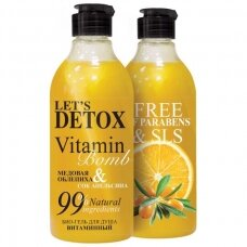 """BODY BOOM dušo želė """"vitamin bomb"""", vitamininė, 380 ml"""