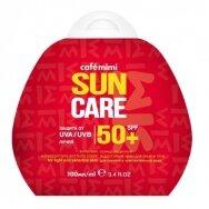 Cafe Mimi Sun apsauginis, vandeniui atsparus kremas nuo saulės veidui ir kūnui SPF50+, 100 ml