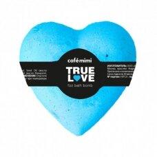 Cafe Mimi mėlynas šnypščiantis vonios burbulas Tikra meilė, širdutė, 115 g