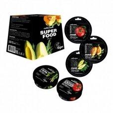 CAFÉ MIMI rinkinys Super Food (šveitiklis veidui 50 ml; 3 vnt veido kaukių; kremas veidui 50 ml)
