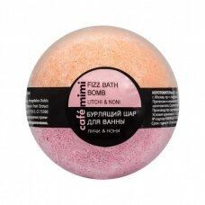 Cafe Mimi šnypščiantis kvapnus vonios burbulas LIČIS IR INDINĖ MORINDA, 120 g