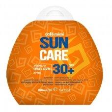 Cafe Mimi Sun apsauginis, vandeniui atsparus kremas nuo saulės veidui ir kūnui SPF30+, 100 ml