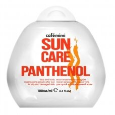 Cafe Mimi Sun atstatomasis kremas po saulės veidui ir kūnui Pantenolis, 100 ml