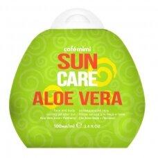 Cafe Mimi Sun vėsinamasis gelis po saulės veidui ir kūnui Alavijas, 100 ml