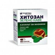CHITOSAN GREEN COFFEE (Chitozanas Žalia kava Chromas) kapsulės N60