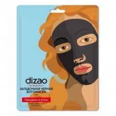 Dizao Masterpieces juoda kaukė veidui su hialuronu ir aktyvinta anglimi, lakštinė, 25 g