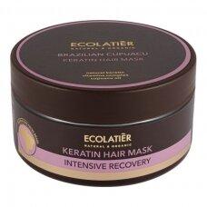 """ECOLATIER Keratininė kaukė intensyviam plaukų atstatymui """"Brazilian Cupuacu"""", 200 ml"""