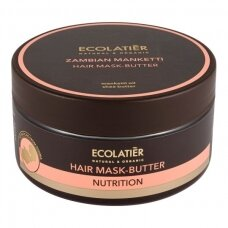 """ECOLATIER Maitinamoji plaukų kaukė-sviestas """"Zambian Manketti"""", 200 ml"""