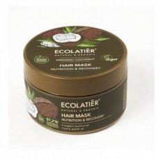 ECOLATIER ORGANIC maitinamoji ir atstatomoji kaukė plaukams KOKOSAS, 250 ml