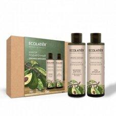Ecolatier rinkinys kūnui Organic AVOCADO (gelis dušui 200 ml; pienelis kūnui 200 ml)
