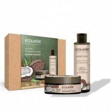 Ecolatier rinkinys kūnui Organic COCONUT (kremas kūnui 150 ml; aliejus kūnui 200 ml)