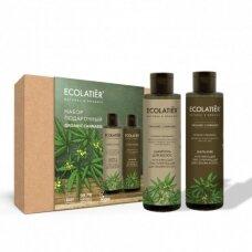 Ecolatier rinkinys plaukams Organic CANNABIS (šampūnas volume 200 ml; balzamas 200 ml)