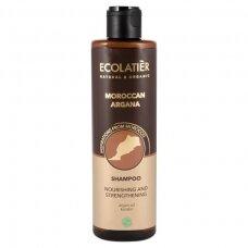 """ECOLATIER Šampūnas plaukų maitinimui ir stiprinimui """"Moroccan Argana"""", 250 ml"""