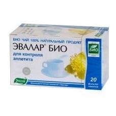 Evalar® Bio arbata apetito kontrolei   20 pakelių