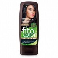 FITOCOLOR atspalvį suteikiantis plaukų balzamas. 1.0 Juoda, 140 ml