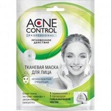 Fitokosmetik Acne Control kaukė veidui, valomoji, lakštinė, 25 ml