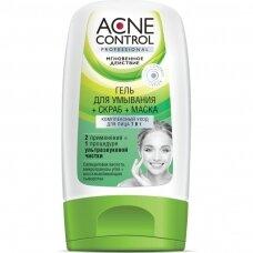 Fitokosmetik Acne Control prausimosi gelis+šveitiklis+kaukė veidui, 150 ml