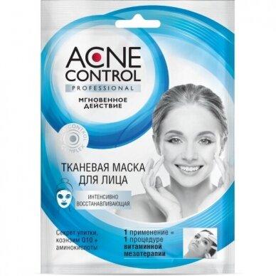 Fitokosmetik Acne Control kaukė veidui, intensyviai atstatanti, lakštinė, 25 ml