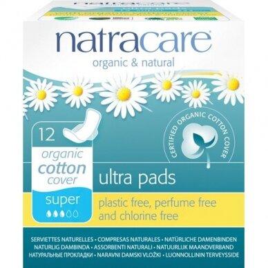 Higieniniai įklotai su sparneliais Ultra NATRACARE, 14 vnt.