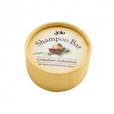 Kietas šampūnas riebiems plaukams Jolu Greipfrutas-kedras, 50g