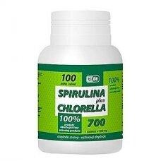 Maisto papildas Spirulina plius Chlorela VIRDE N100
