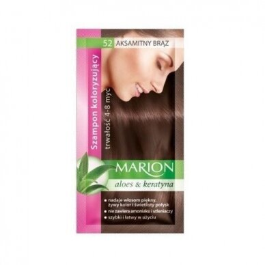 MARION dažantis šampūnas. Aksominė ruda, 40ml
