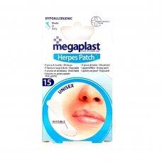 Megaplast Herpes Hipoalerginis pleistras nuo lūpų puslelinės 15vnt