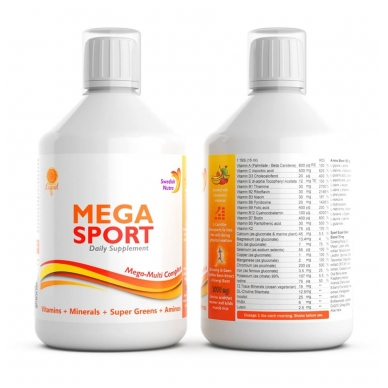 Skysti multivitaminai Mega Sport 500ml