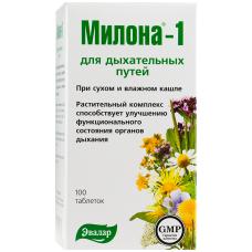 MILONA-1 N100 Evalar Maisto papildas kvėpavimo takams