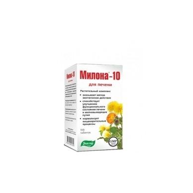 MILONA-10 (Evalar) N100 Maisto papildas kepenims