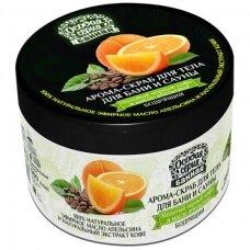 """OSOBAJA SERIJA Aromatingas kūno šveitiklis pirčiai """"Malta kava ir apelsino aliejus"""", 500 ml"""