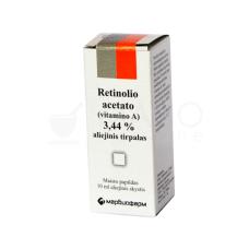 Retinolio acetato (vitamino A) 3.44 % aliejinis tirpalas, 10 ml