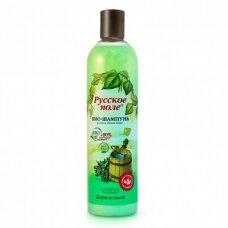 Ruskoje Pole šampūnas-bio visų tipų plaukams beržas, 400 ml