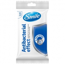SMILE drėgnos servetėlės su D-pantenoliu, 15 vnt.