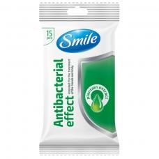SMILE drėgnos servetėlės su gysločio ekstraktu, 15 vnt.