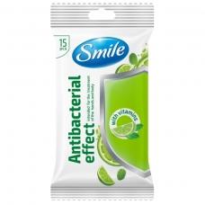 SMILE drėgnos servetėlės su vitaminais, 15 vnt.